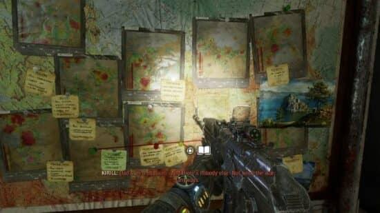 Расположение заметок, записок и страниц дневников в Metro Exodus